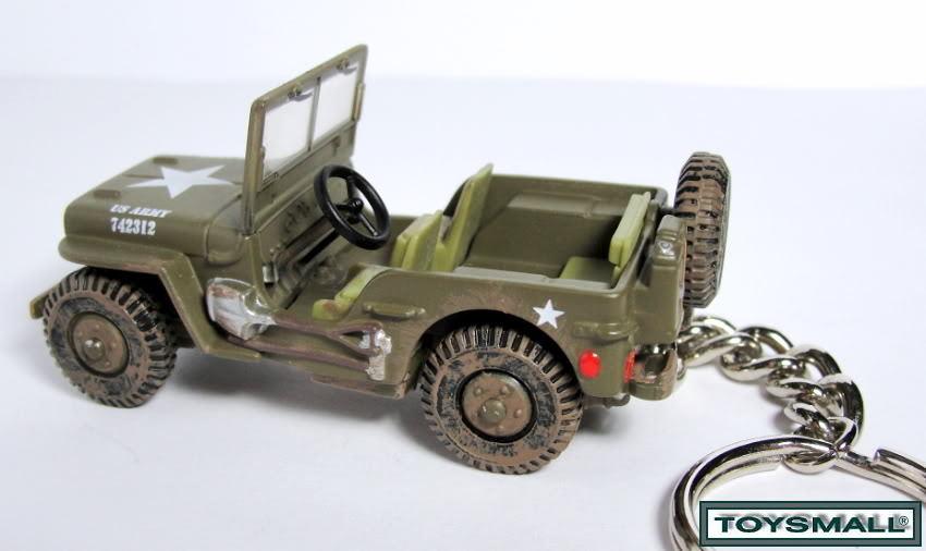 KEY CHAIN RING JEEP WILLYS GPW 4x4 WW2 ARMY/USMC/RANGER