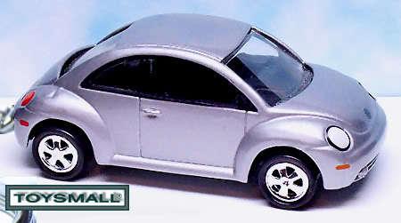 KEY CHAIN 1999~2008 SILVER VW NEW BEETLE BUG VOLKSWAGEN