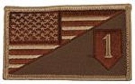 ARMY 1ST INFANTRY DIVISION DESERT FLAG 2 X 3  EMBROIDERED PATCH WITH HOO... - $23.74