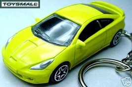 KEY CHAIN YELLOW TOYOTA CELICA GT PORTE CLE JAUNE NEUF NEW - $29.98
