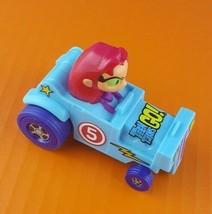 "Starfire Teen Titans Go T-Tower Blue Car 3.5"" McDonald's Action Figure DC.2017 - $11.87"