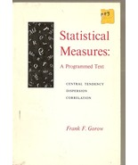 Statistical Measures: a Programmed Text  - $3.99