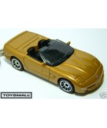 KEY CHAIN RING AZTEC GOLD CHEVY CORVETTE CONVERTIBLE C5 - $24.97