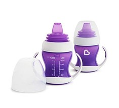 Munchkin 2 Piece Gentle Transition Trainer Cup, 4 Ounce, Purple - $13.96