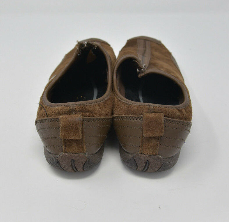 Merrell Womens Sz 10 EU 41 Brown Suede Zip Up Walking Flats Loafers J173241C