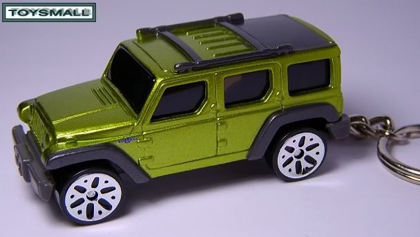 KEY CHAIN RING FOB JEEP WRANGLER RESCUE GREEN/GRAY SUV 4X4