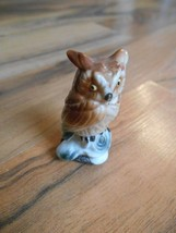 Old Vintage small little mini miniature figurine animal owl bird decorat... - $6.99