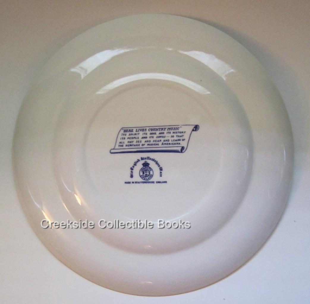 Vintage Country Music Hall of Fame Staffordshire Plate 1967