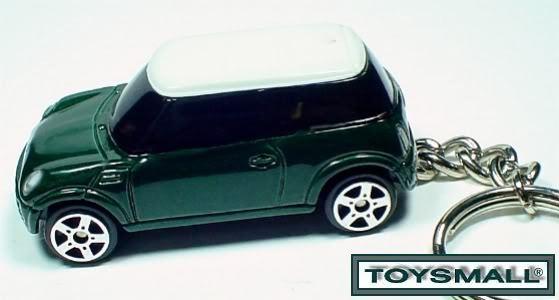 KEY CHAIN 2007~2008~2009~​2010 GREEN/WHITE MINI COOPER