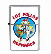 Los Pollos Rs1 Flip Top Oil Lighter Wind Resistant With Case - $13.95