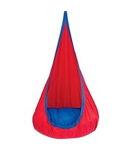 Red Hugglepod Deluxe Hanging Cocoon Chair Hammock Nest with Removable Cu... - $69.69