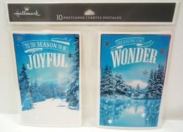 Hallmark - Foil - 10 Pack - Winter - Christmas - Holiday - Postcards - New - $2.69