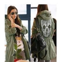 Mesh Skull Skeleton Military Hooded Jacket - $29.99