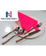 Al-Nurayn Stainless Steel Copper Flatware Set W/Knife, Spoon And Fork Se... - $99.00