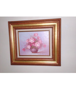 Framed, Ready to Hang, Beautiful  Robert Cox Original Oil Floral Paintin... - $60.00