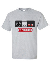 Nintendo Classic controller T-shirt vintage style distressed heather grey tee image 2