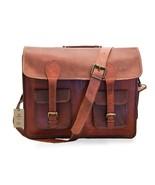 """New Men's 15"""" Genuine Soft Rustic Vintage Leather Travel Formal Messenge... - $75.74"""