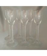 Lot (6) AALBORG Jubilaeums Akvavit Elegant Cordial Glasses w/ Twisted Stems - $19.50