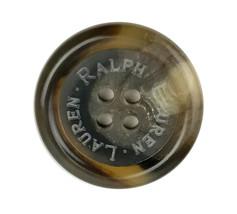 "Ralph Lauren Tortoise Swirl  blend Color Plastic Replacement Pocket Button .75"" - $4.90"
