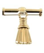 VINTAGE GIVENCHY COSTUME GOLD TONE DANGLE DROP TASSLE BAR PIN PRETTY FRANCE - $113.39