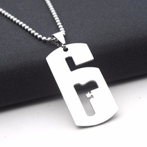 Sterling Silver Rainbow Six Siege Game Necklace Pendant for Men or Women - $49.00