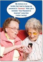 Funny 'Incorrect Password' Happy Birthday Card With Envelope - Humorous ... - $6.32