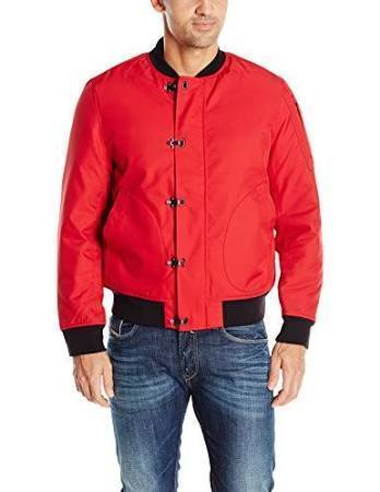 Nautica Men's Long Sleeve Military Inspired Bomber Jacket, Nautica Red, Small for sale  USA