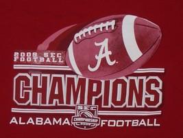 Roll Tide Alabama Football 2009 SEC Champions T-Shirt Mens M Medium Deep Red - $7.69