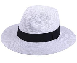 JOYEBUY Womens UPF50 Foldable Summer Straw Hat Wide Brim Fedora Sun Beac... - $15.55