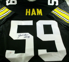 JACK HAM / NFL HALL OF FAME / AUTOGRAPHED PITTSBURGH SEELERS CUSTOM JERSEY / COA image 1