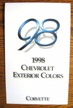 1998 Chevrolet Corvette Color  & Trim Paint Chip Brochure-  Original - $5.63