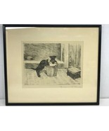 """MARGUERITE KIRMSE (1885-1954) SIGNED ETCHING """"STEAL PREFERRED"""" Circa 1930 - $494.99"""