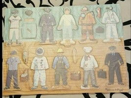 Melissa & Doug Children Careers Dress-Up Wood Magnetic Puzzle - $20.00