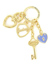 Juicy Couture Gold Crystal Heart Charm De Juicy Keychain Bag Charm WJW1112 - $29.50