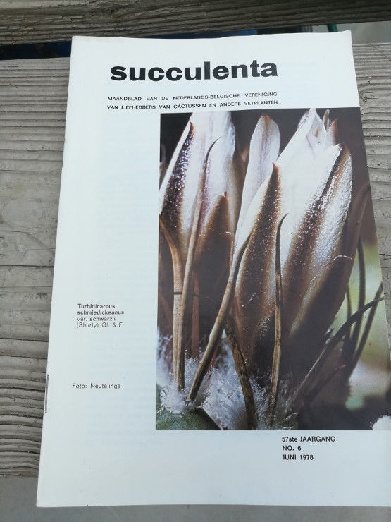 Succulenta Netherlands Succulent Catalogue 1978