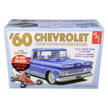 Skill 2 Model Kit 1960 Chevrolet Custom Fleetside Pickup Truck with Go K... - $46.45