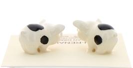 Hagen-Renaker Miniature Ceramic Pig Figurine Spotted Piglets Standing Set of 2 image 2