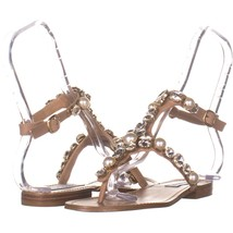 Steve Madden Chantel Flat Ankle Strap Sandals 120, Blush Multi, 7 US - $23.99