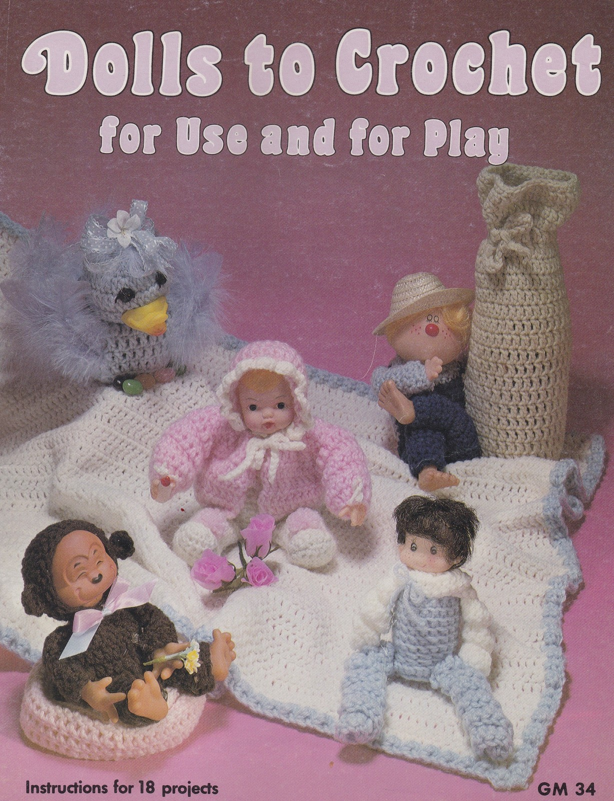 Magical Tooth Fairy Bed Doll Outfit Crochet PATTERN//INSTRUCTIONS Leaflet