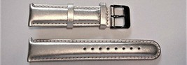 Invicta Silver Genuine Leather Watch Band 20mm NEW - $24.95