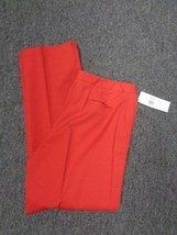 ANNE KLEIN NWT Red Stretchy Straight Leg Flat Front Dress Pants Size 10 ... - $29.69
