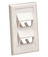 Panduit CFPSL4WHY Mini-Com 1-Gang Sloped Faceplate w/Label, 4 Module Spa... - $4.93