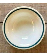 """Fire King 5"""" Berry Bowl with Turquoise Blue Stripe, # 350 - $4.99"""