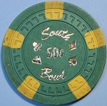 50¢ Casino Chip. South Bowl, Sacramento, CA. V48. - $4.29
