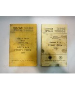 Two Vintage 1952 1956 US Army Air Force Manuals 1/4 Ton 4x4 Utility Truc... - $33.15