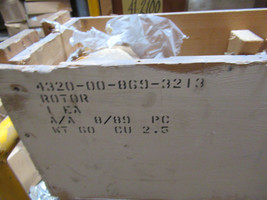 New Curtiss-Wright Centrifugal Pump Rotor 384035PH FSN 4320-00-869-3213 - $10,097.99