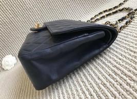 100% Authentic Chanel Vintage Dark Blue Lambskin Medium Classic Double Flap Bag  image 4