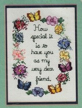 Sandi Phipps Counted Cross Stitch Sampler Kit Dear to Me Friendship Quote - $21.52
