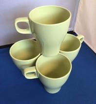 """IKEA FÄRGRIK Lime Green Stacking Mug set of 4, 4"""", 21533, Excellent cond... - $14.80"""