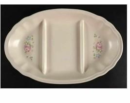 Tea Rose Pfaltzgraff 3 Part Divided Snack Plate Server Plate Length 12 1/4 in   - $37.39
